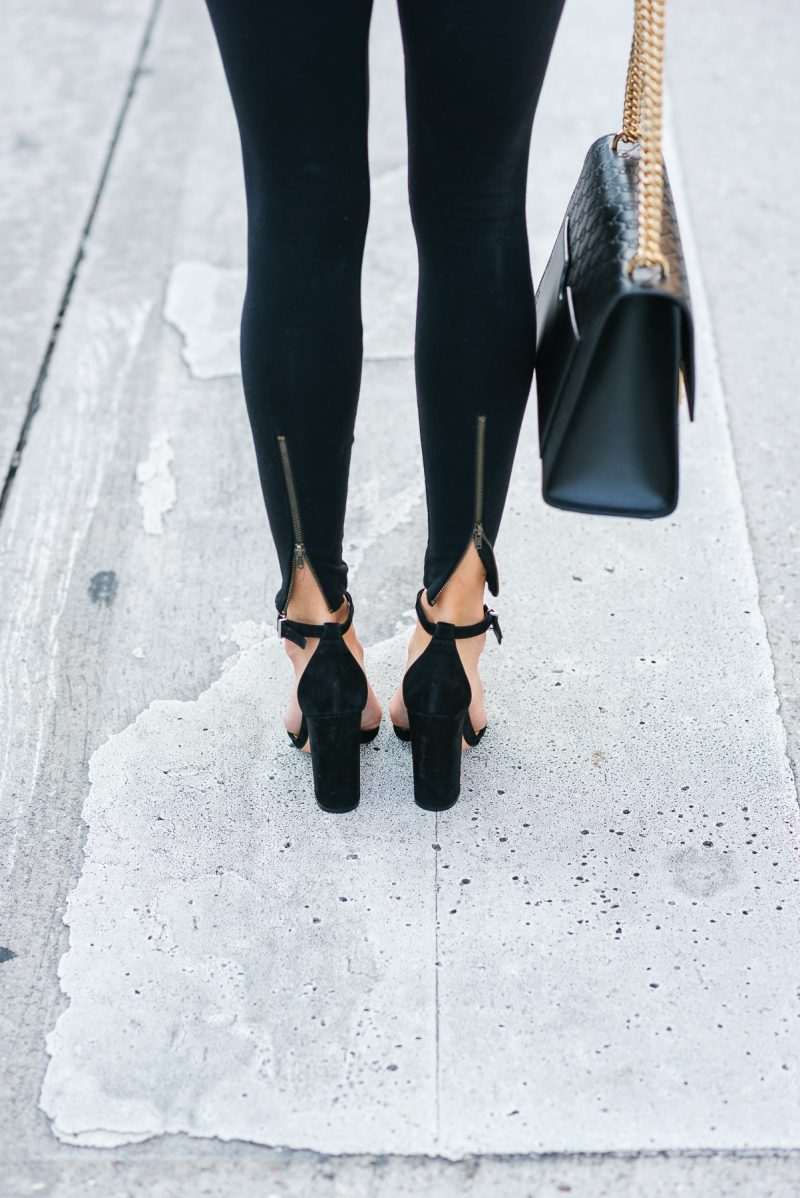 Zipper details with high heels on