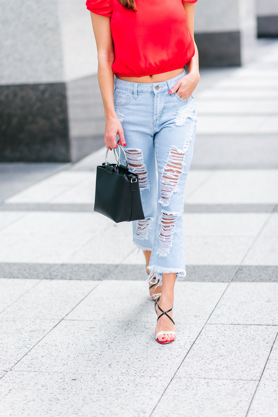 Walking into next week in my mom 80's jeans