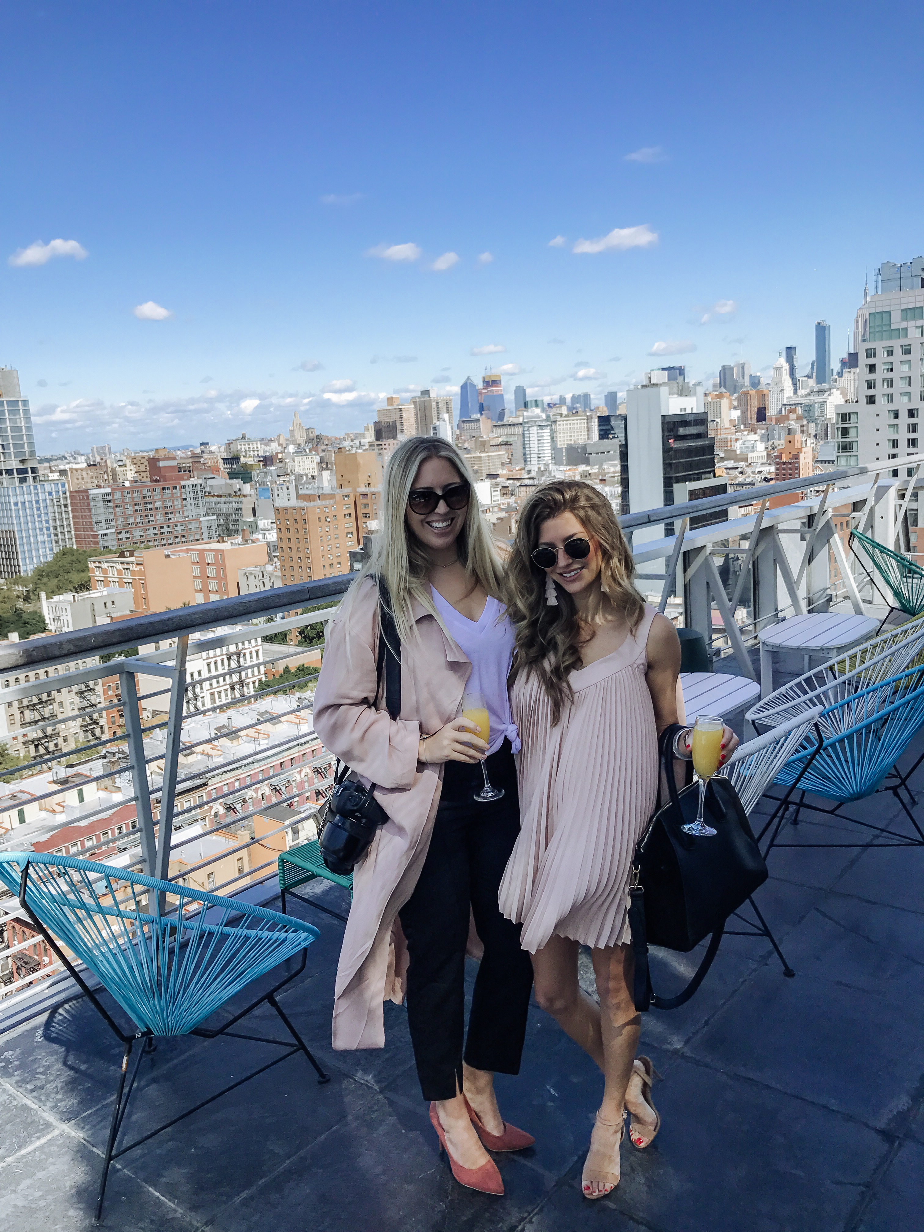 Rooftop view in New York City with Ashley Streff and AshLee Frazier