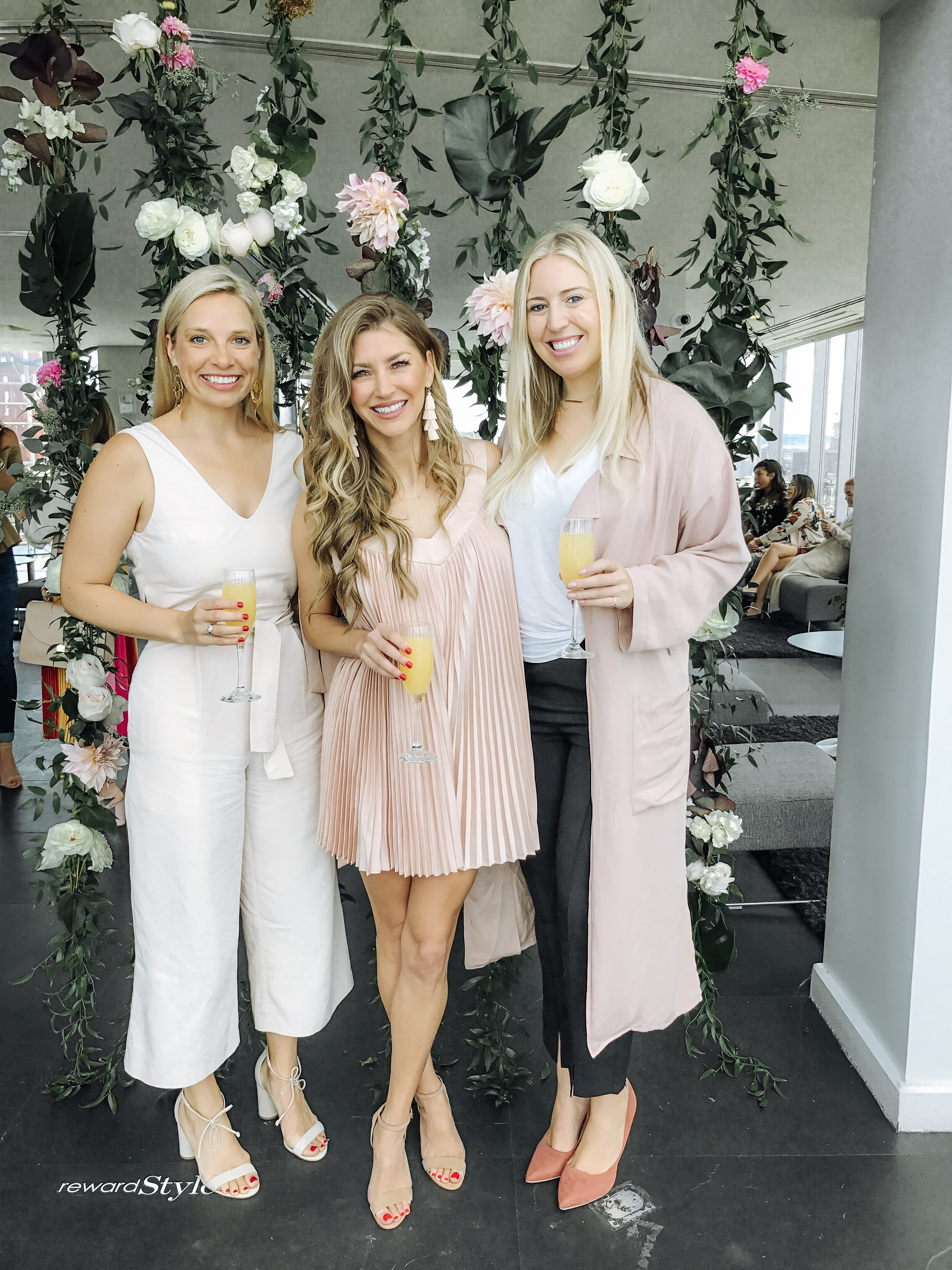 Blggers at the RewardStyle Party in NYC with Meggie Tate, Ashley Streff and AshLee Frazier