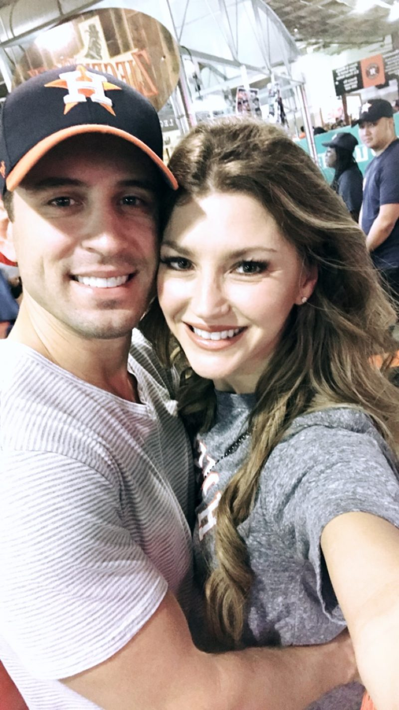 AshLee and Aaron Williams at the Astros palayoff game, Astros vs Yankees 2017