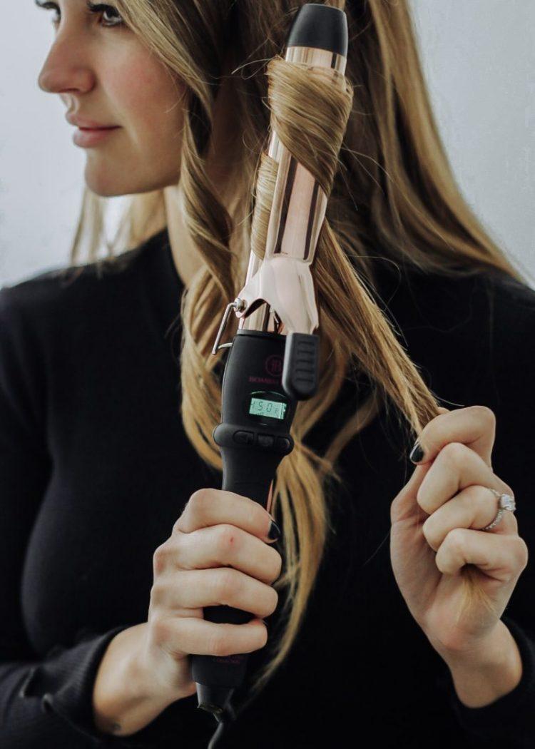 Bombay curling iron curling hair on blogger