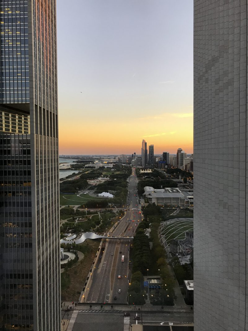 View from Fairmont Chicago hotel