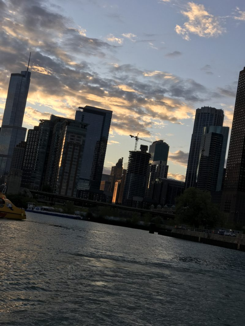 View from Windella tour boat of Chicago skyline