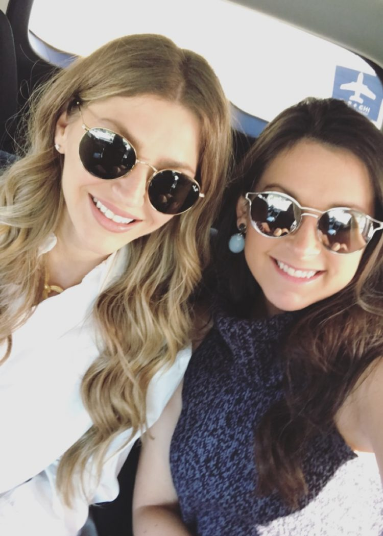 Sydney and AshLee in Chicago on a girls trip
