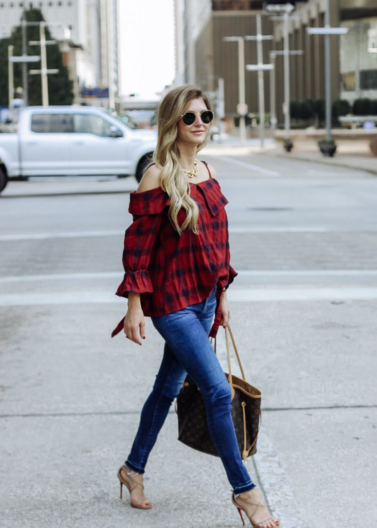 Fashion Blogger, AshLee Frazier wearing Shop Pink Blush, best fall basics.