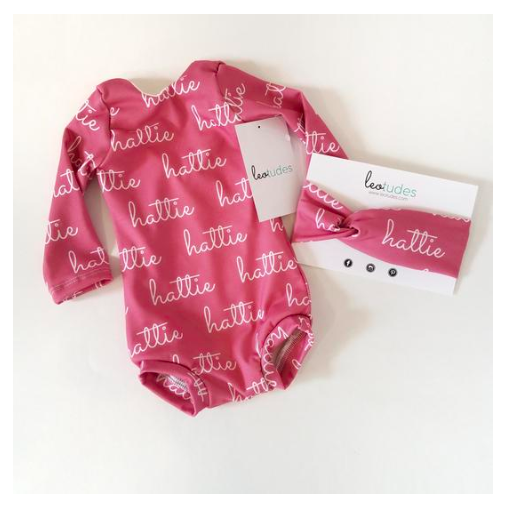 Personalized leotard for girls