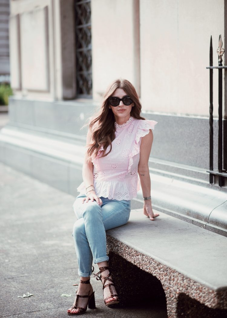 Blogger wearing Shein top
