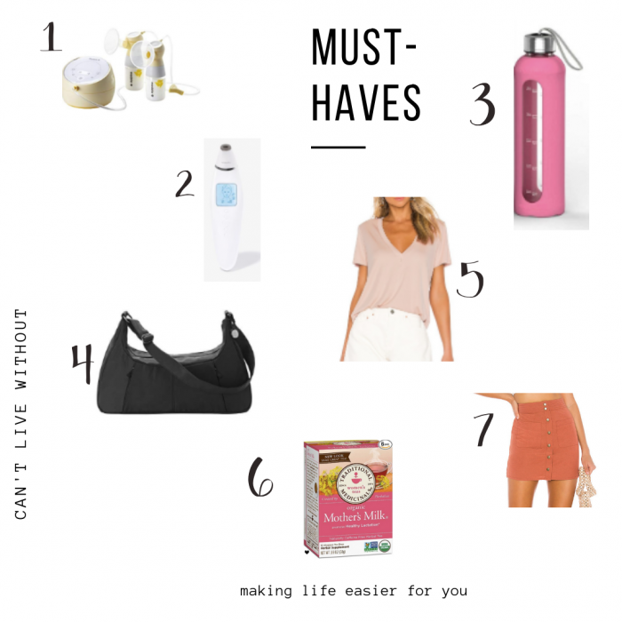 Must haves while breastfeeding