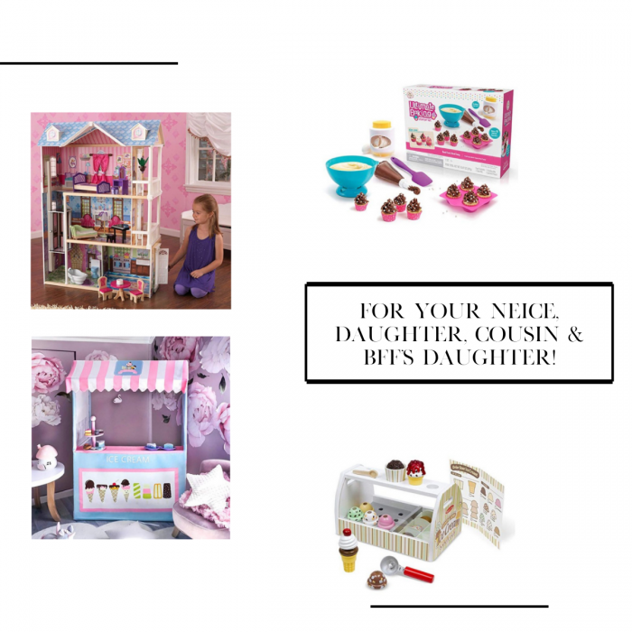 Easy bake oven, children serve set, play time ice cream set. Amazon gifts under $100