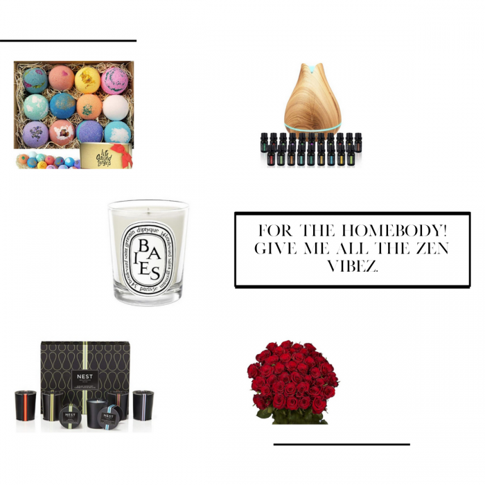 Bath bomb, oil diffuser, roses, candle. Gifts for the holidays under $100