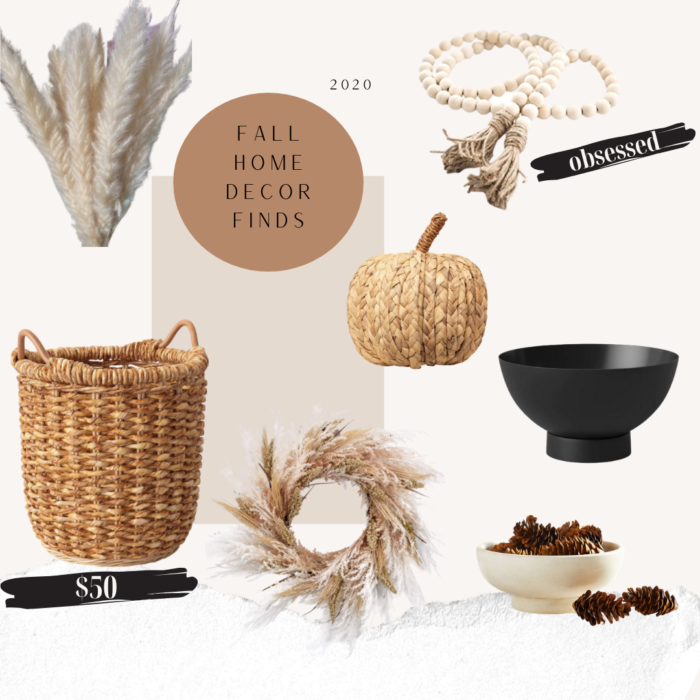A mix of fall home decor for 2020